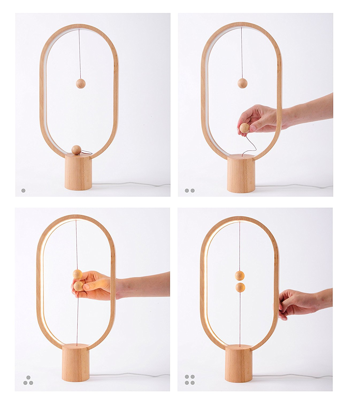 Lampe Allocacoc Balance Light Usb Led Wood Square Design Heng Lamp shdCtQr