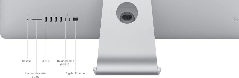 iMac 2019 ports et connecteurs