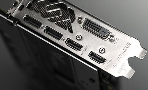 Sapphire Nitro+ RX580 - ports vidéo