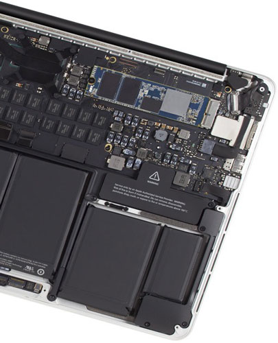 OWC Aura Pro X2 dans MacBook Pro