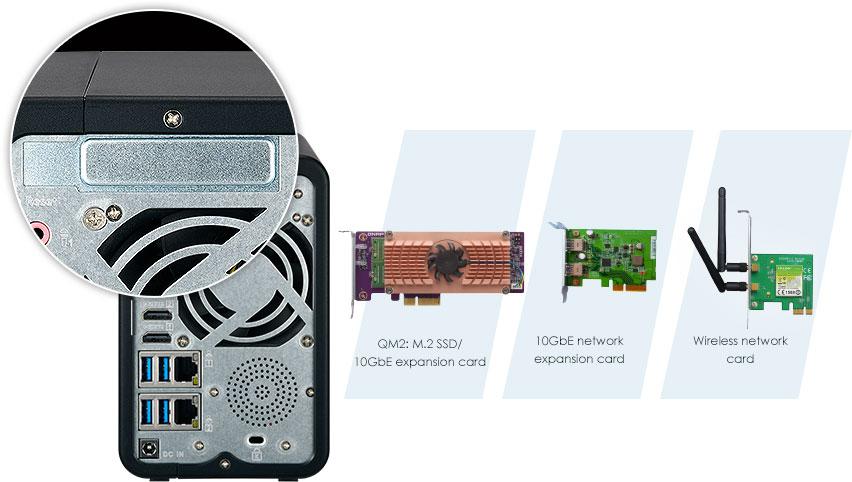 QNAP TS-253B cartes d'extension PCIe
