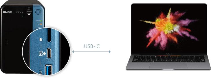 QNAP TS-253B USB-C QuickAccess
