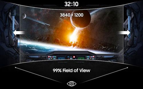 Samsung C49J890D champ de vision