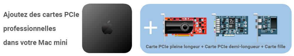 Cartes PCIe compatibles Sonnet xMac mini Server