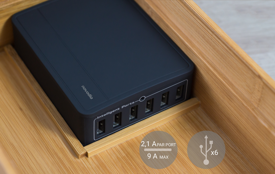 chargeur USB Ze Box Bamboo