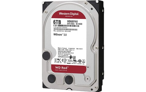 6 To Sata Iii 3 5 Western Digital Red Wd60efax Disque Dur Pour Nas Disque Dur Interne Western Digital
