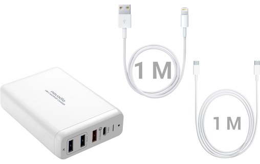 0: Novodio USB-C Multiport Charger - Solution de charge complète MacBook/iPhone