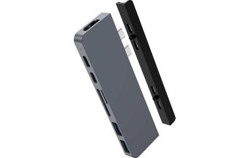 0: HyperDrive DUO 7-in-2 Dock pour MacBook Pro / Air - Gris sidéral