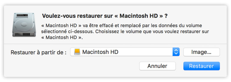 Restauration Mac