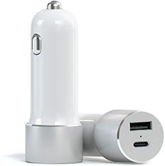 Satechi Chargeur voiture Argent - USB-C et USB