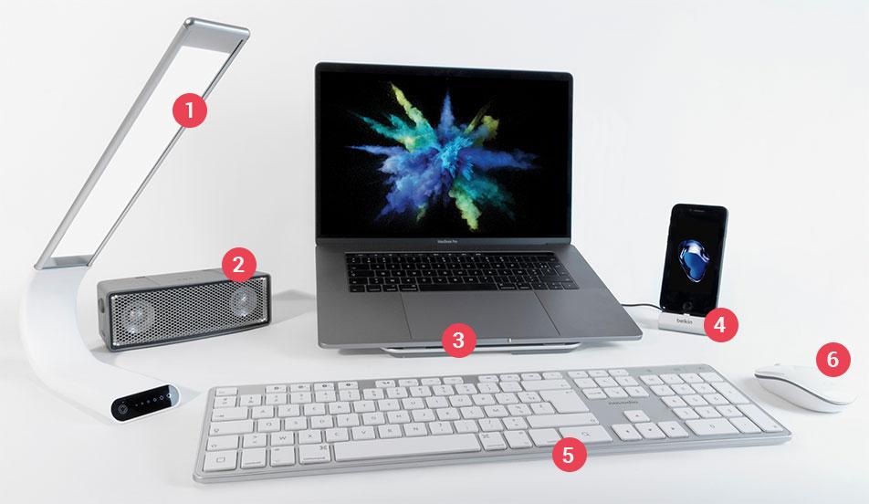 accessoires de bureau compatibles macbook pro touch bar