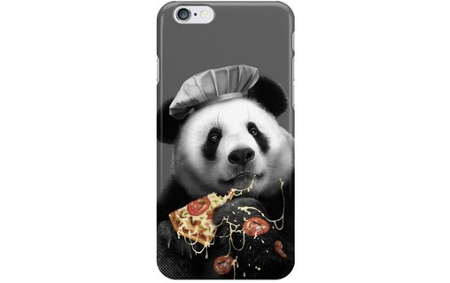 Aperçu 0: Coque rigide panda pizza pour Apple iPhone 6 Plus