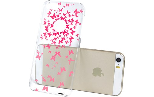 Aperçu 1: Coque transparente Papillons rose pour Apple iPhone 5/5S