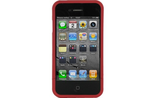 Aperçu 5: Hard Candy Cases Bubble Slider Soft Touch Red - Etui pour iPhone 4