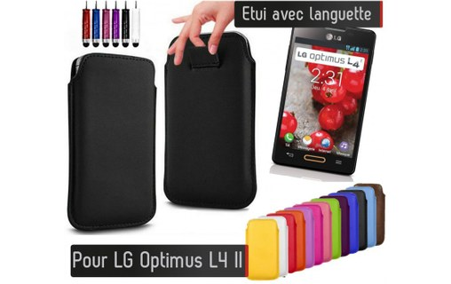 Aperçu 0: Etui Pull up LG Optimus L4 II - BLEU ROI