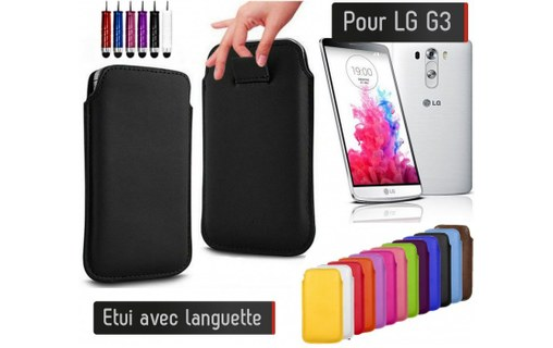 Aperçu 0: Etui Pull up LG G3 - ROSE PALE