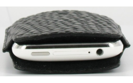 Aperçu 3: Novodio Premium Vertical Pouch Holder Type Crocodile/Black-pour iPhone 3G / 3GS