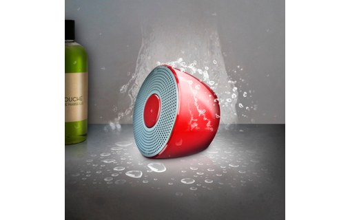 Aperçu 3: Novodio Shower Bluetooth Speaker - Enceinte Bluetooth waterproof Rouge