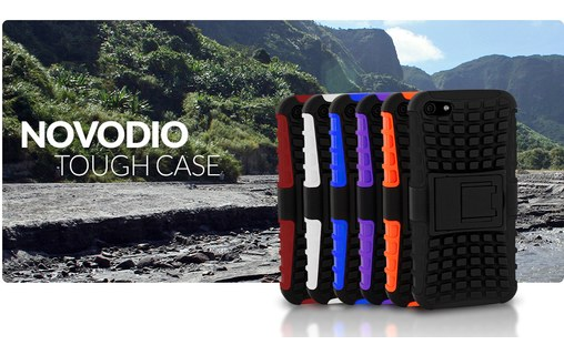 Aperçu 4: Novodio Tough Case Noir et Orange - Coque de haute protection iPhone 5 / 5s / SE