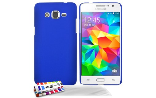 "Aperçu 0: Coque rigide ""Le Pearls"" Bleu + 3 Films SAMSUNG GALAXY GRAND PRIME"