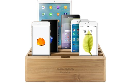 Aperçu 0: Novodio Ze Box Bamboo - Station de charge 6 ports USB pour iPhone / iPad