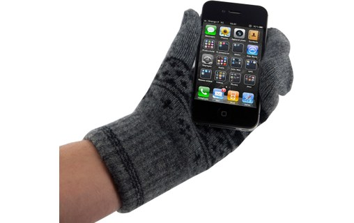 Aperçu 1: WizGloves Snowflake Mittens Gris S/M - Moufles tactiles iPod/iPhone/iPad