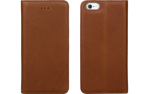 Aperçu 0: CASEual Leather Wallet Italian Brown - Étui en cuir à rabat pour iPhone 6s Plus