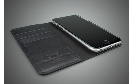 Aperçu 2: CASEual Leather Wallet Italian Black - Étui en cuir à rabat pour iPhone 6s Plus