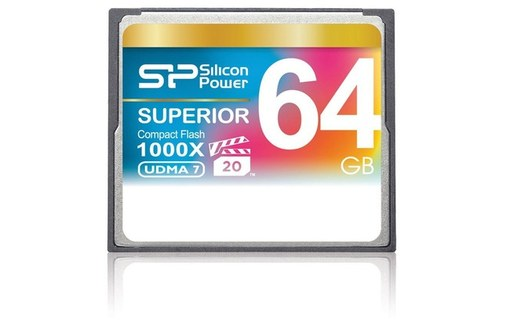 Aperçu 1: SILICON POWER 64 GO COMPACT FLASH CARD VITESSE 1000X