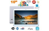 Achat Tablette 10 pouces 3G Android 5.1 Lollipop Dual SIM Quad Core 24Go Blanc
