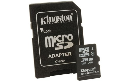 Aperçu 0: CARTE MEMOIRE KINGSTON MICRO SDHC 32GO+ ADAPT CL4 KINGSTON SDC4/32GB