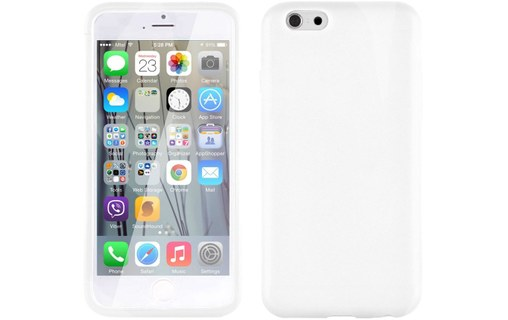 Aperçu 1: Etui avec Rabat Jelly Glass APPLE IPHONE 6 PLUS 5.5 POUCES Blanc