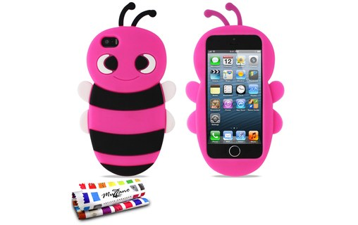 "Aperçu 0: Coque souple Rose bonbon ""Abeille"" APPLE IPHONE 5S / IPHONE SE"