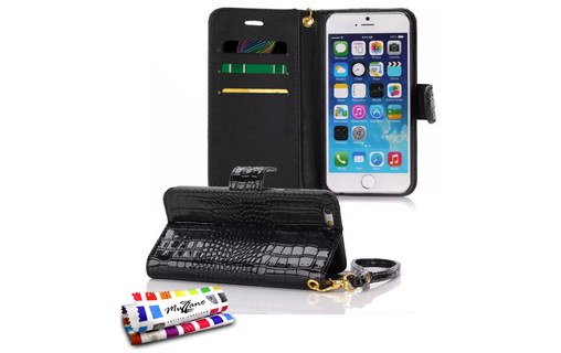 "Aperçu 0: Etui ""CroCoChic"" APPLE IPHONE 6 / 6S Noir"