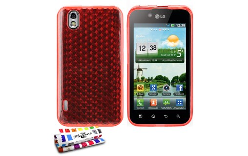 "Aperçu 0: Coque ""Diams"" OPTIMUS BLACK P970 Rouge"